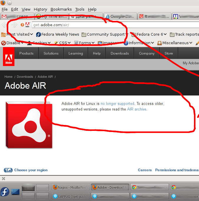 Adobe-AIR-for-Linux-is-no-longer-supported